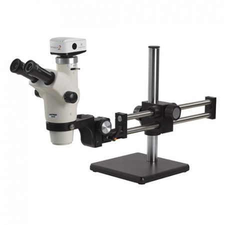 Z650HR Trinocular High Resolution Zoom Stereo Microscope On Ball Bearing Boom Stand